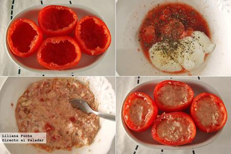 Tomates rellenos de cous-cous. Pasos