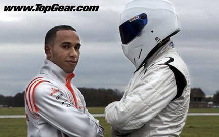Lewis Hamilton intentará batir el tiempo del Stig este domingo en Top Gear: ¿se irá a la puzolana?