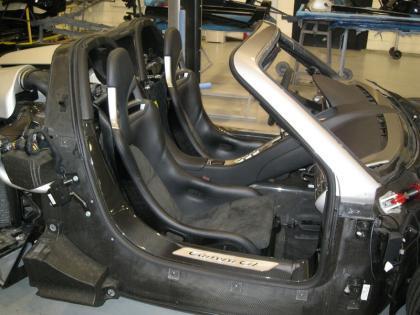 Porsche Carrera GT desnudo