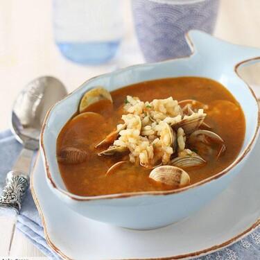 Receta de sopa de chirlas con arroz, para disfrutar del cuchareo