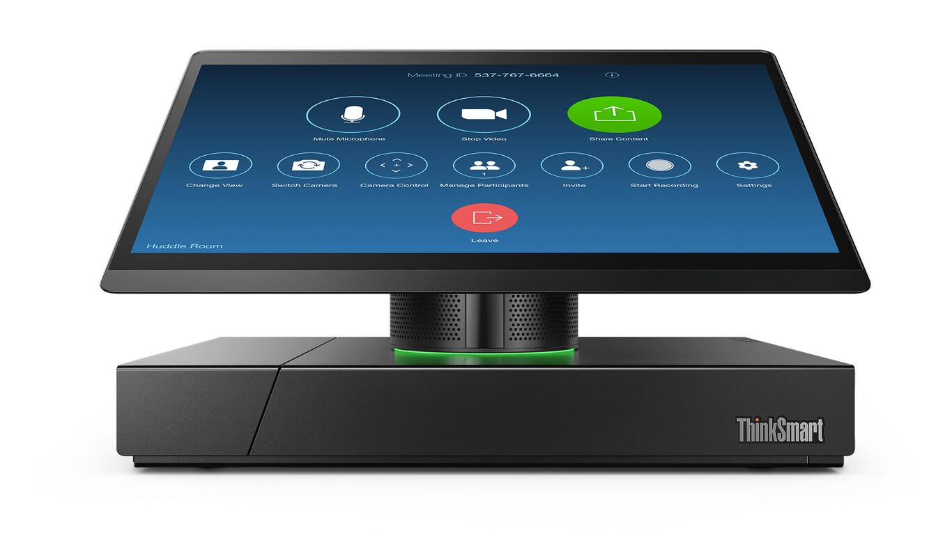 Lenovo ThinkSmart Hub: este sistema de sala de reuniones se reinventa con un nuevo diseño, un sonido más cuidado y un solo cable