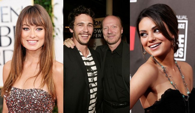 Olivia Wilde, James Franco, Paul Haggis y Mila Kunis
