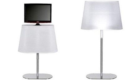 El televisor escondido en una lámpara