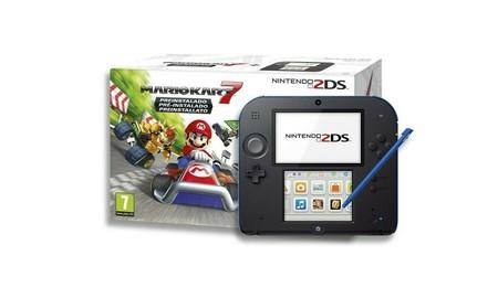 Más barata todavía, con el cupón YESRITGJSC28LQM, la Nintendo 2DS con Mario Kart 7, sólo cuesta 69,95 euros en eBay