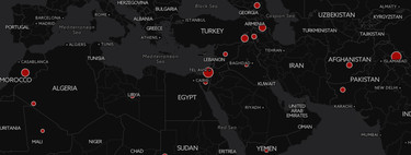 Todos los conflictos bélicos que se están desarrollando en el mundo, a vista de mapa