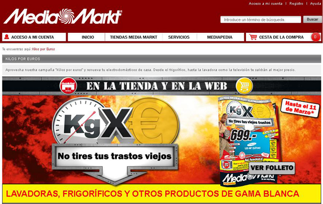 media markt kilos por euros marzo 2013