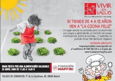 Cocina feliz, evento de la Fundación Mapfre por una alimentación saludable