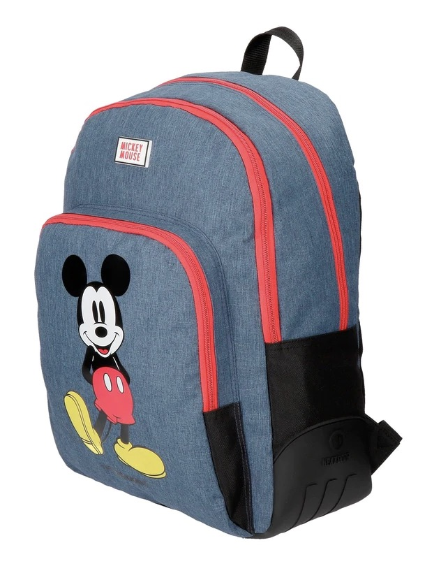 DISNEY  Mochila Mickey Blue adaptable a carro con estampado