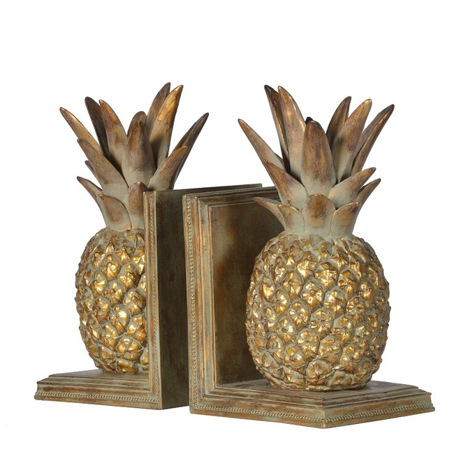 Pineapple Bookends Cut