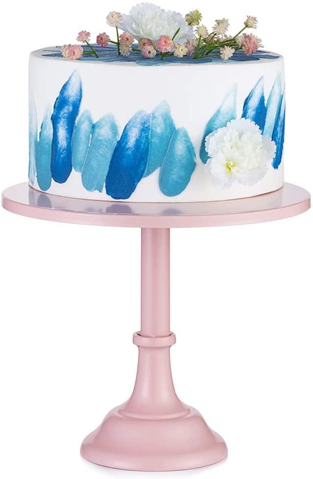 Plato para tarta rosa 30 cm