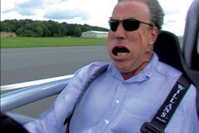 Jeremy Clarkson, probando un Ariel Atom en Top Gear