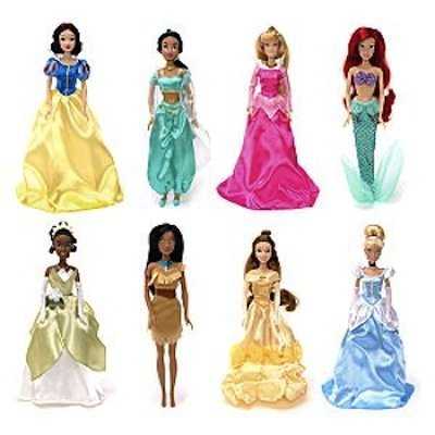 Set de ocho Princesas Disney