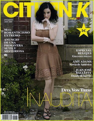 Dita Von Teese, portada en Citizen K