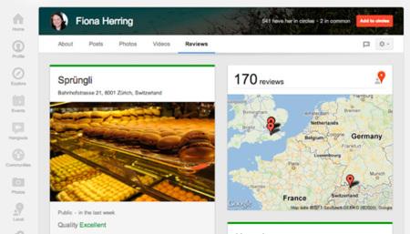 Google+ apuesta por las reviews en el nuevo rediseño de sus perfiles