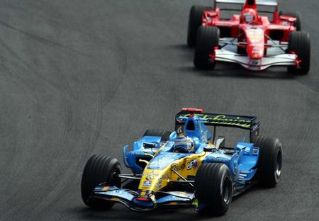 Fernando Alonso Michael Schumacher Interlagos 2006