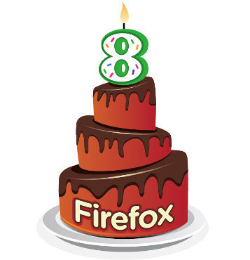 Firefox cumple hoy 8 años