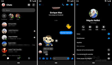 Dark Theme for Facebook Messenger