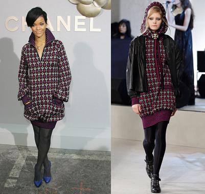 Rihanna, una Caperucita Roja de Chanel
