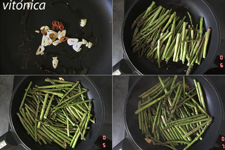 Salteado asiático de espárragos verdes: receta saludable fácil y rápida