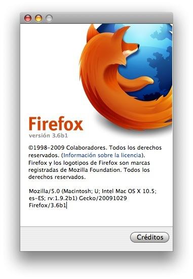 Primera beta de Firefox 3.6