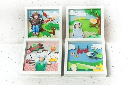 Un bonito regalo para los niños: cuadros/cuento personalizados