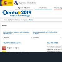 Renta 2019: cómo obtener el borrador a través de la web de la Agencia Tributaria