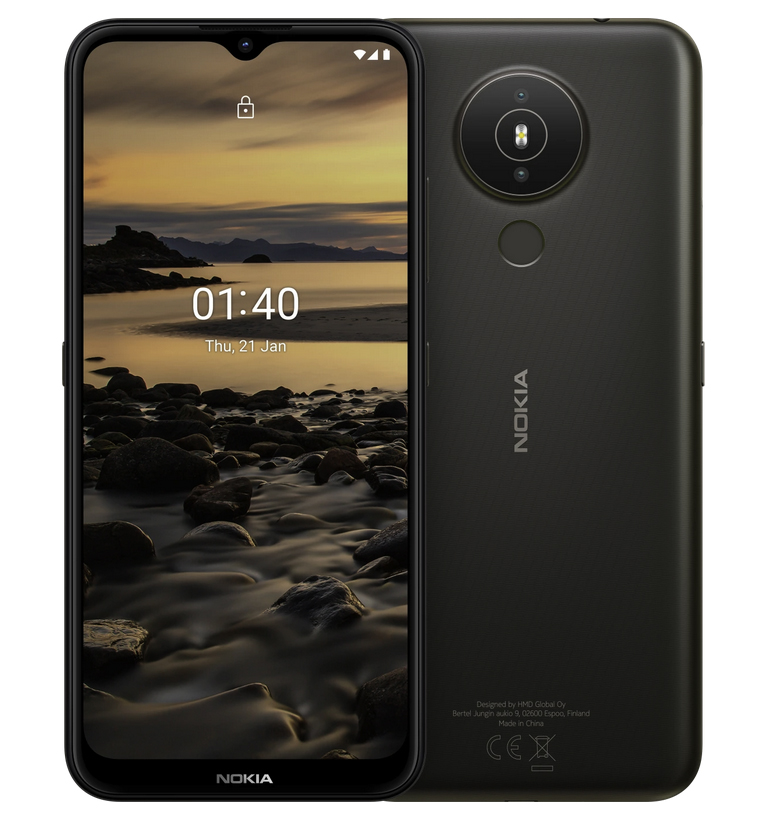Nokia 1.4, Carbón, 2 GB de RAM, 32 GB Almacenamiento externo, Dual SIM