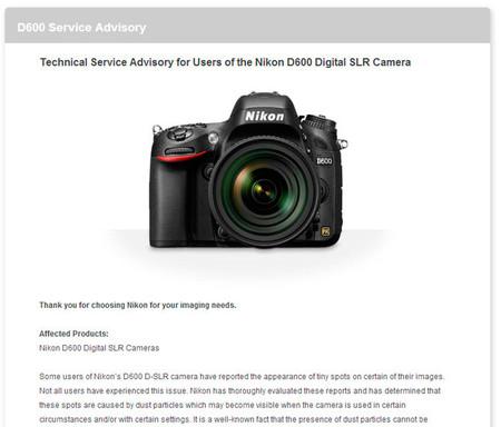 Nikon España ya ofrece cambiar el obturador de la Nikon D600 de forma gratuita