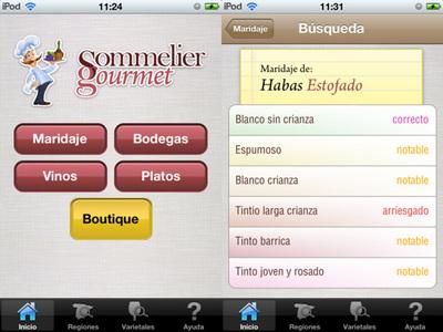 Elige el mejor vino para cada comida con la aplicación Sommelier Gourmet