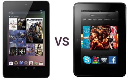 Comparamos al Nexus 7 con sus nuevos rivales Kindle Fire
