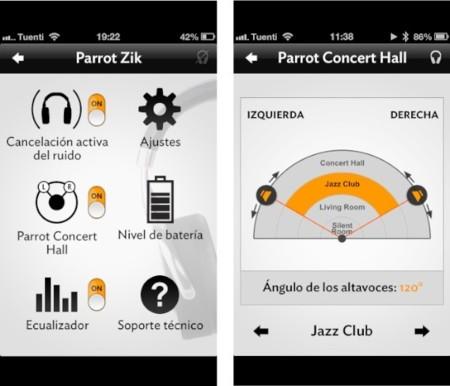 parrot zik aplicación iphone