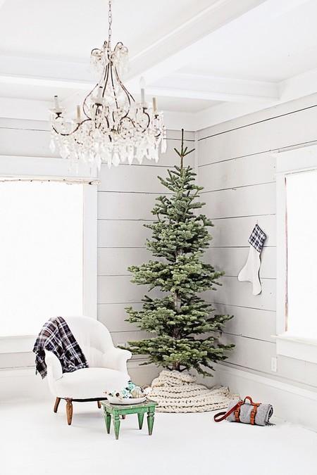 árbol de navidad nórdico minimal 2018 decoración