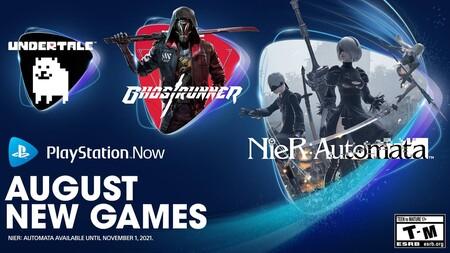NieR: Automata, Ghostrunner y Undertale son los nuevos juegos que se unirán a PS Now en agosto