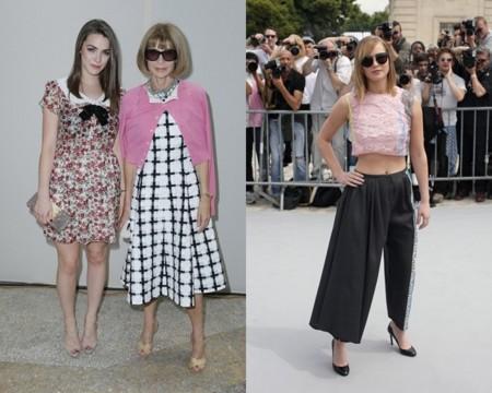 Anna Wintour, Jennifer Lawrence en la semana de la moda de Paris