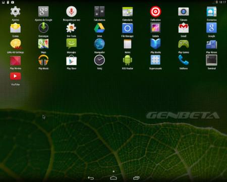 Android-x86, software por defecto