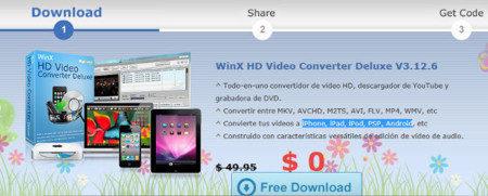 WinX HD Video Converter Deluxe, promoción