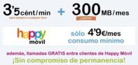 Happy Móvil responde a la mejora de condiciones de las tarifas con internet gratis