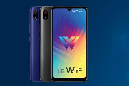 LG W10 Alpha: el más básico de LG apuesta por el notch en forma de gota