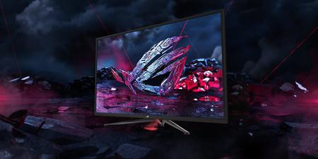 Asus sigue apostando por las grandes diagonales en sus monitores gaming y el ROG Swift XG438Q es un buen ejemplo