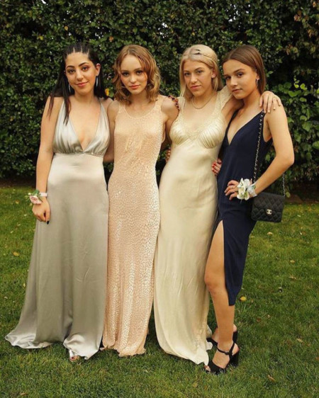 Lily Rose Depp Lottie Moss Prom Dresses 2