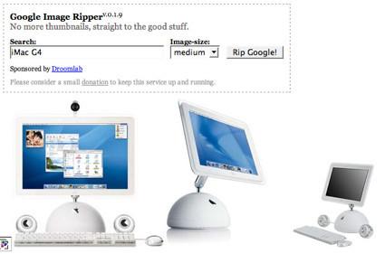 Google Image Ripper, directo al tamaño original de imagen