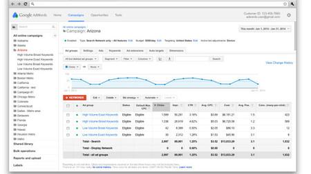 Google Adwords se adapta al diseño del resto de productos de la compañía