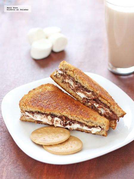 Receta Facil Ideas Lunch Saludables Regreso A Clases Sandwiches Nutella Malvavisco