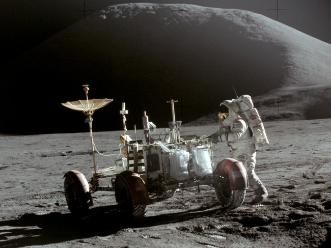 Apollo 15 Lunar Rover And Irwin