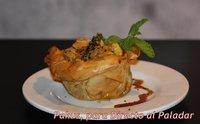 Curry suave de pollo en cesta crujiente. Receta