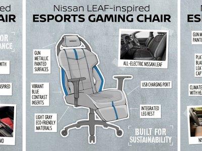 Nissan diseña sillas para gamers inspiradas en sus vehículos