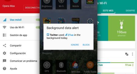Opera Max te avisa de las aplicaciones que están mandando muchos datos en segundo plano