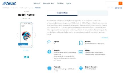Xiaomi Redmi Note 5 Telcel Mexico