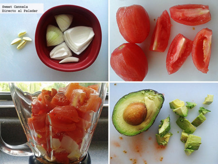 Preparación gazpacho a la mexicana