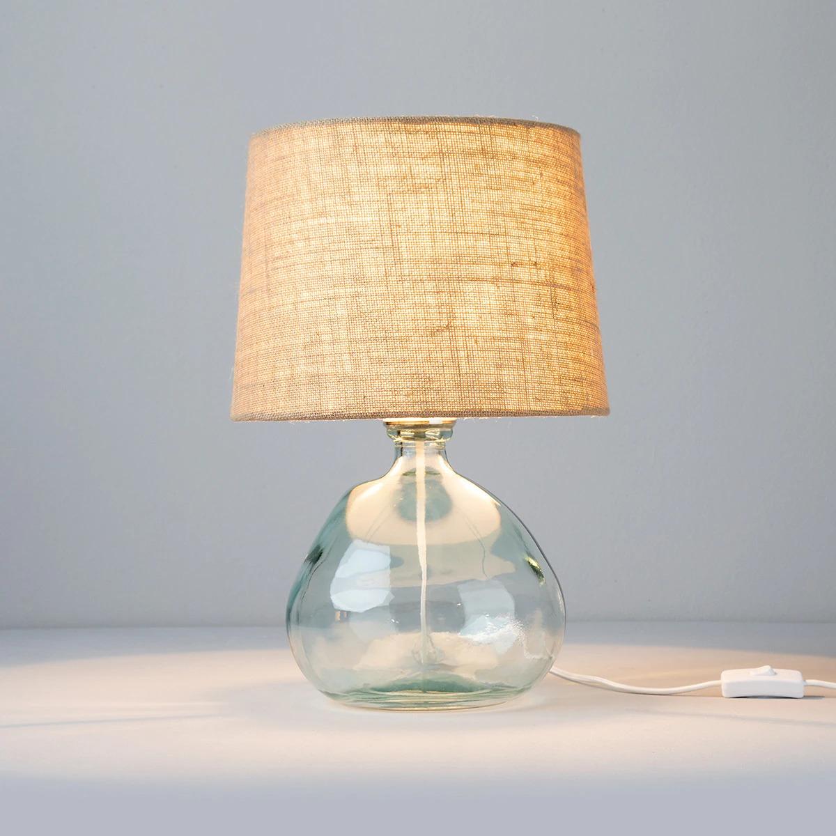 Lámpara de cristal reciclado